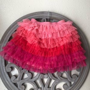 Children's place pink ombré tulle layered skirt
